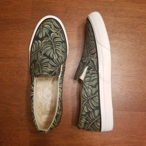 NEW | Rifle Paper Keds | Palm Print Slip-On Shoes